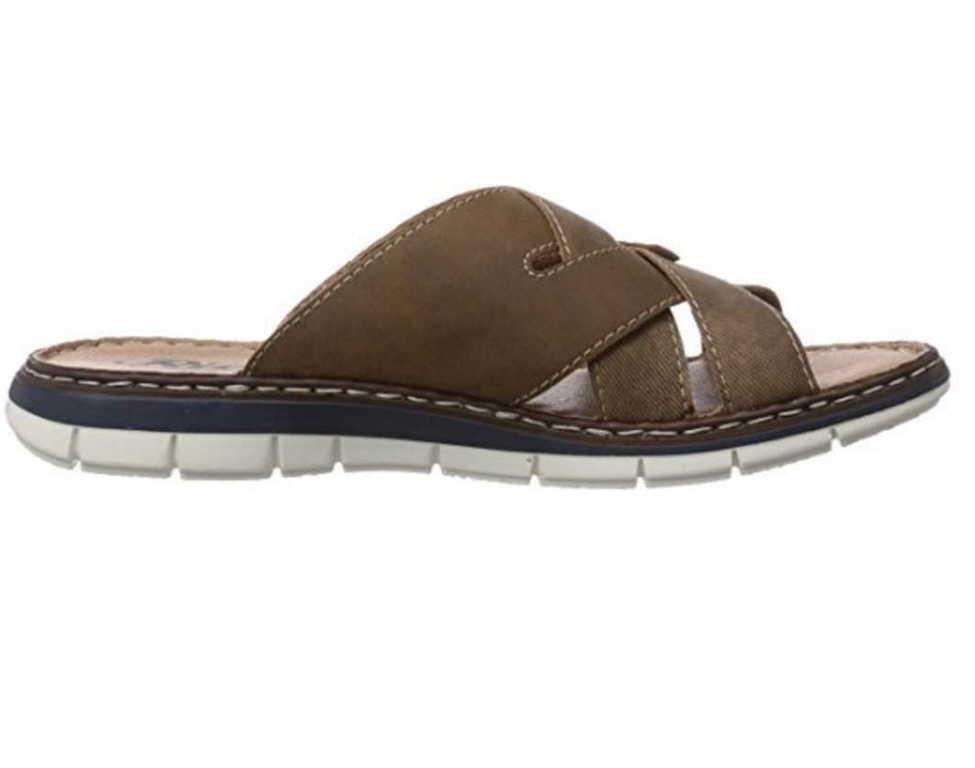 rieker herren sandalen pantoletten 25199 24 braun neu ebay. Black Bedroom Furniture Sets. Home Design Ideas