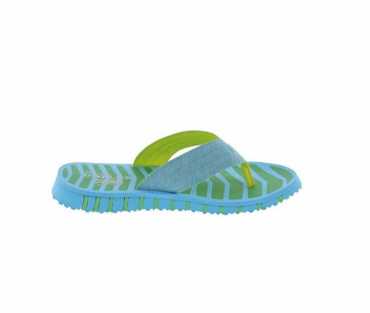 Skechers-Damen-Zehentrenner-14258-BLGR-hell-blau-NEU