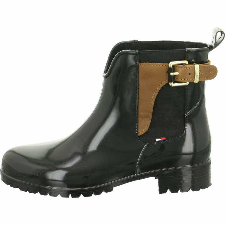 tommy hilfiger damen stiefel stiefeletten fw56822108990 schwarz neu ebay. Black Bedroom Furniture Sets. Home Design Ideas
