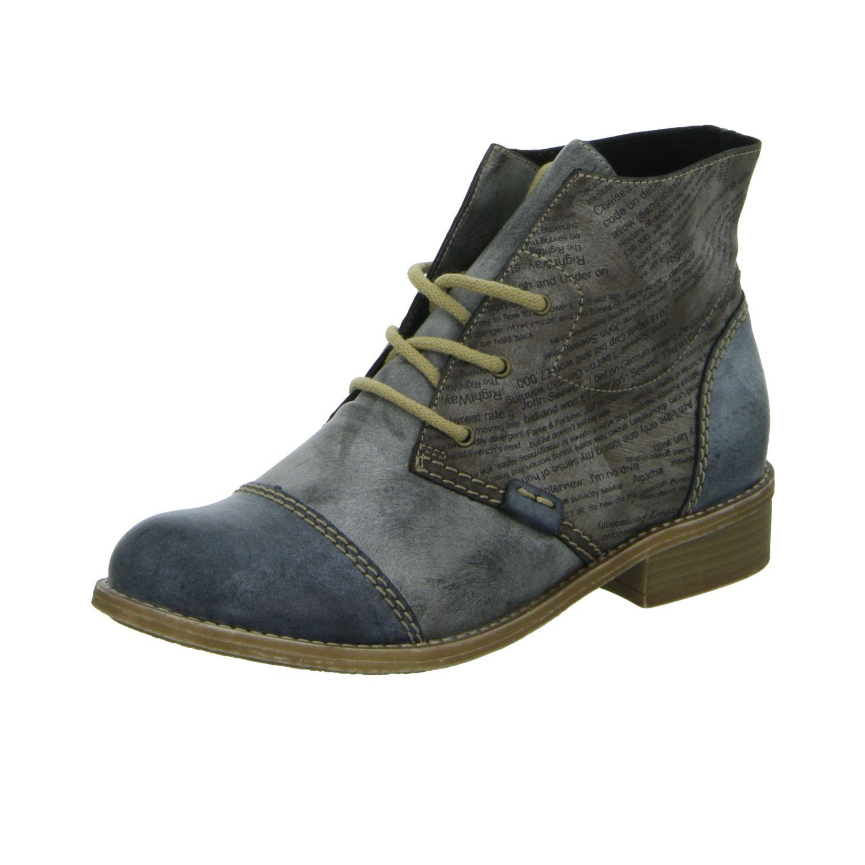 Rieker Damen Stiefel / Stiefeletten 72742-14 blau NEU