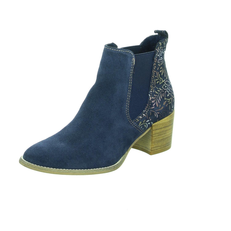 Tamaris Damen Stiefel   Stiefeletten 1-1-25303-20 805 805 blau NEU